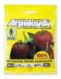 Удобрение для томатов, перцев, баклажанов Агрикола №3  Green Belt (Грин Бэлт)