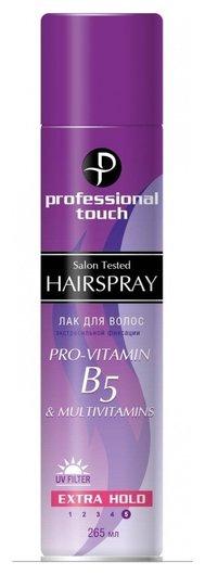 Лак для волос экстрасильная фиксация Pro-vitamin В5 Multi Vitamin  Professional Touch