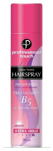 Лак для волос экстрасильная фиксация Pro-vitamin В5 Silk Protein  Professional Touch