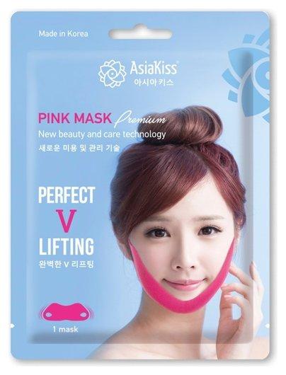 Лифтинг - маска против второго подбородка Perfect V Lifting Pink Mask  AsiaKiss