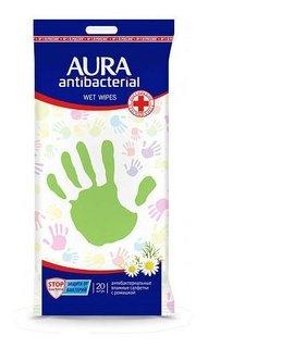 Влажные салфетки Антибактериальные  Aura
