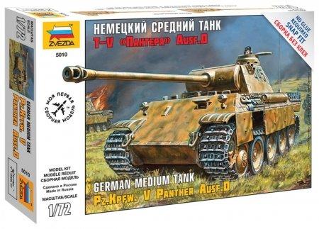 """Модель для сборки Танк """"Средний немецкий T-v (D) Пантера""""  Звезда"""