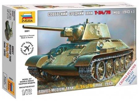 Сборная модель Советский средний танк Т-34/76 образца 1943