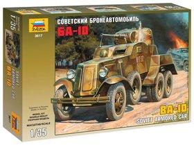 """Модель для склеивания Авто """"Бронеавтомобиль советский Ба-10"""""""