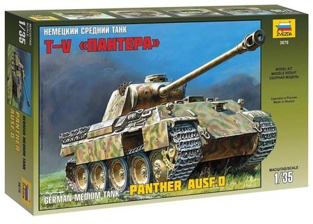 Сборная модель Немецкий средний танк T-V Пантера  Звезда