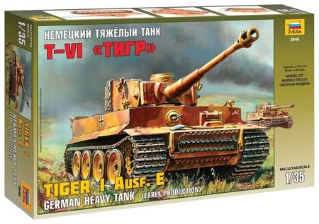 Сборная модель Немецкий танк Тигр VI  Звезда