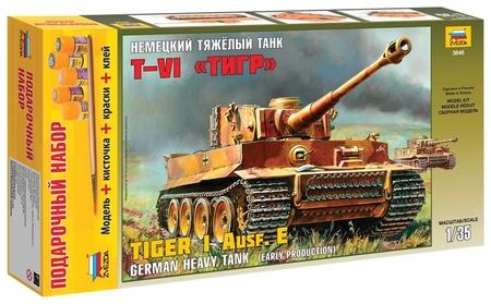 """Модель для склеивания Танк """"Тяжелый немецкий T-vi Тигр""""  Звезда"""