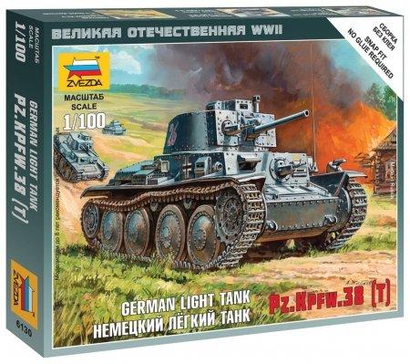 Сборная модель Немецкий танк Т-38  Звезда