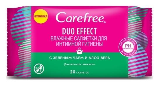 Влажные салфетки для интимной гигиены Aloe  Carefree