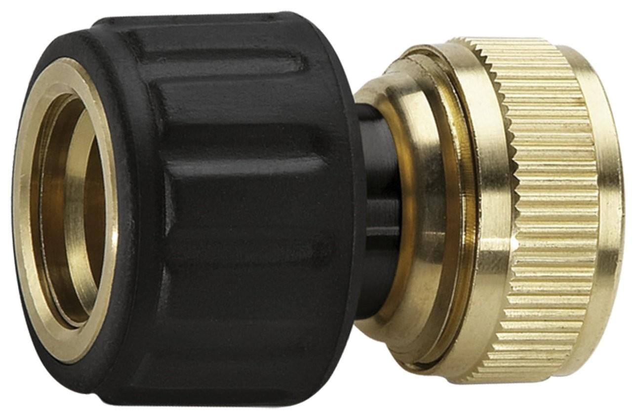Коннектор латунный для шлангов Karcher 3/4 с аквастопом 2.645-018.0  Karcher