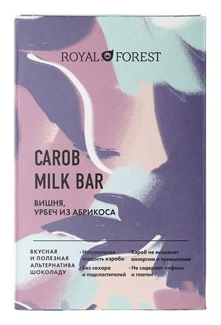 Шоколад Вишня урбеч абрикосовый Carob Milk Bar  Royal Forest