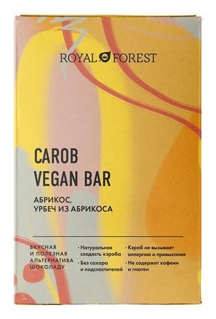 Шоколад Абрикос, урбеч абрикосовый Carob Vegan Bar Royal Forest