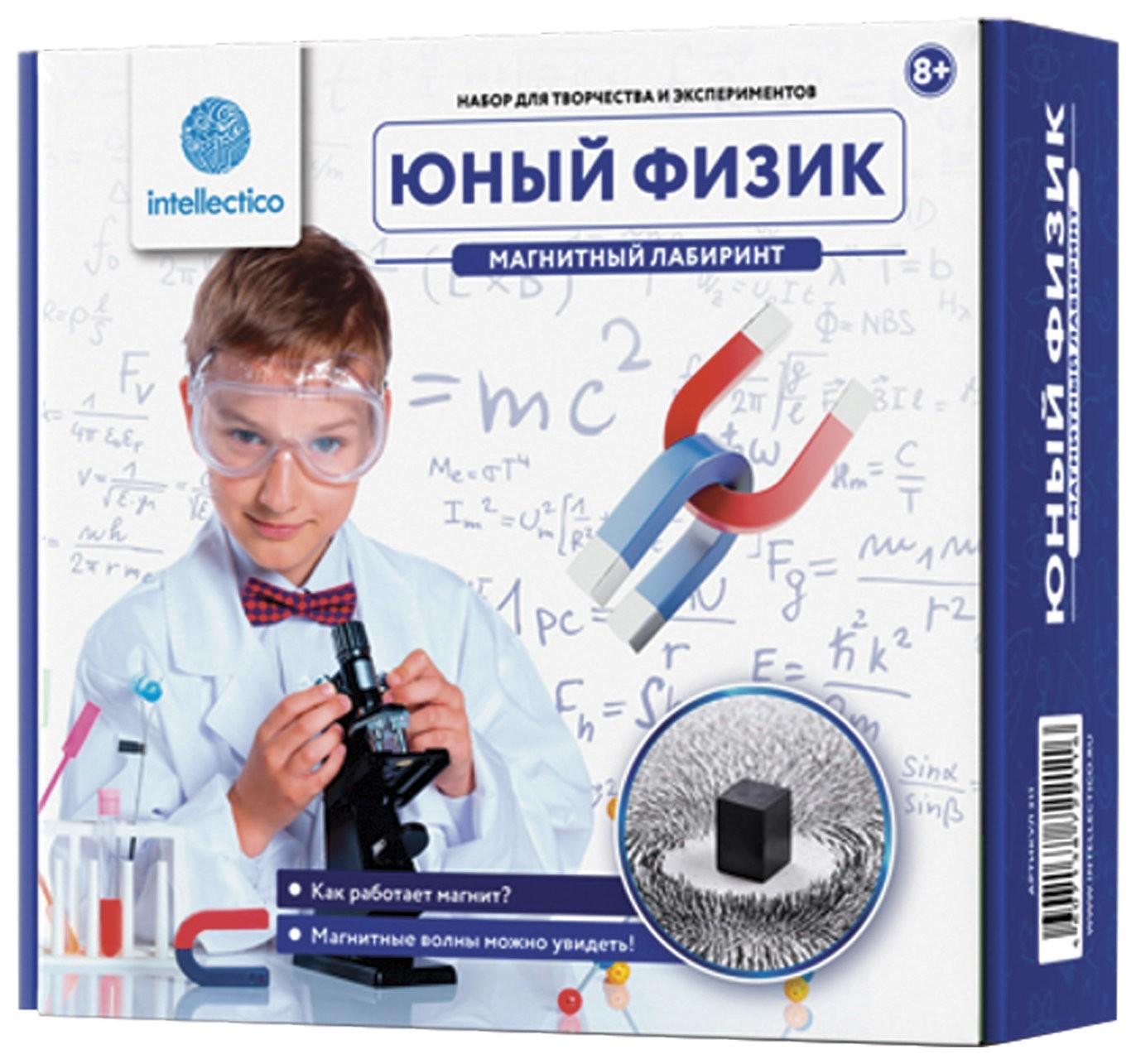 """Набор для экспериментов Юный физик """"Магнитный лабиринт""""  Intellectico"""