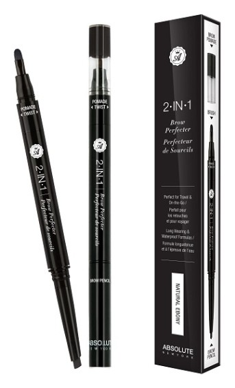 Карандаш-помадка для бровей 2 in 1 Brow Perfecter Тон Natural Ebony