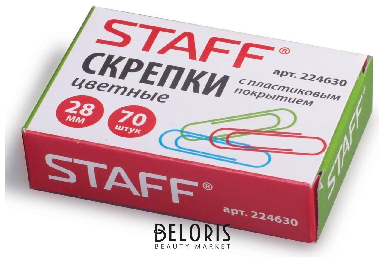 Скрепки Staff, 28 мм, цветные, 70 шт., в картонной коробке Staff