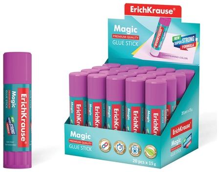 Клей-карандаш, обесцвечивающийся после высыхания Magic  Erich krause