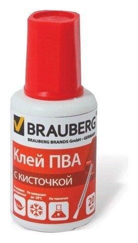 Клей ПВА Brauberg, 20гр, с кисточкой, морозостойкий  Brauberg