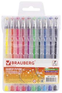 """Ручки гелевые Brauberg, набор 10 шт., ассорти, """"Jet"""", узел 0,7 мм, линия письма 0,5 мм  Brauberg"""