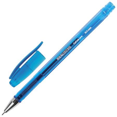 Ручка гелевая Brauberg Income, синяя, корпус тонированный, игольчатый узел 0,5 мм, линия письма 0,35 мм Brauberg
