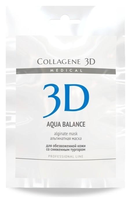 Альгинатная маска для лица и тела Aqua Balance с гиалуроновой кислотой  Medical Collagene 3D