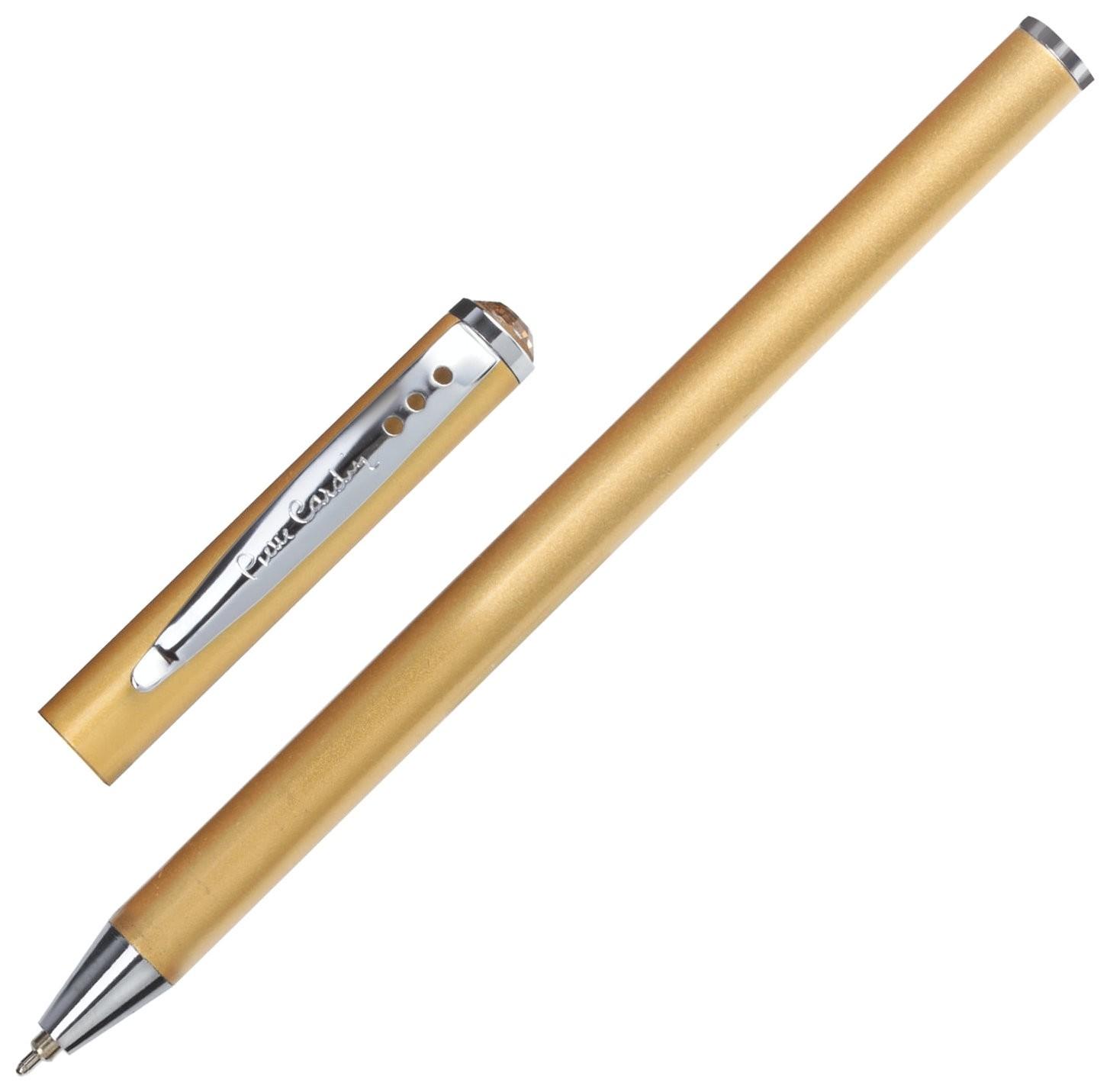 """Ручка подарочная шариковая Pierre Cardin """"Actuel"""", корпус бежевый, алюминий, хром, синяя  Pierre cardin"""