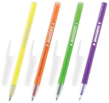 """Ручка шариковая масляная юнландия """"Неон"""", синяя, безопасный корпус ассорти, пишущий узел 1 мм, линия письма 0,5 мм  Юнландия"""
