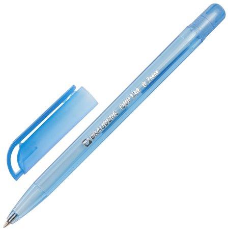 """Ручка шариковая масляная Brauberg """"Olive Pen Tone"""", синяя, корпус тонированный, пишущий узел 0,7 мм, линия письма 0,35 мм  Brauberg"""
