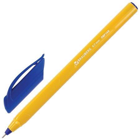 """Ручка шариковая масляная Brauberg """"Extra Glide Orange"""", синяя, трехгранная, узел 0,7 мм, линия письма 0,35 мм"""
