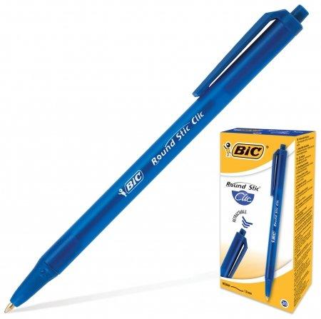 Ручка шариковая автоматическая Round Stic Clic  BIC