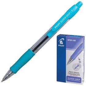 Ручка шариковая масляная автоматическая с грипом Super Grip, цвет дизайна бирюзовый