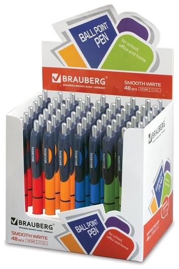 Ручка шариковая автоматическая с грипом Supreme  Brauberg