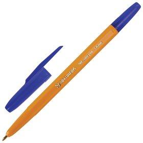 """Ручка шариковая Brauberg """"Carina Orange"""", синяя, корпус оранжевый, узел 1 мм, линия письма 0,5 мм  Brauberg"""