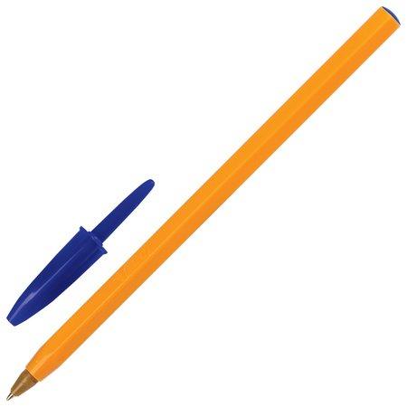 Ручка шариковая Bic Orange, синяя, корпус оранжевый, узел 0,8 мм, линия письма 0,3 мм BIC