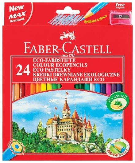 Карандаши цветные 24 цвета Eco замок Faber-castell