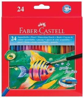 """Карандаши цветные акварельные Faber-castell """"Colour Pencils"""", 24 цвета + кисть  Faber-castell"""