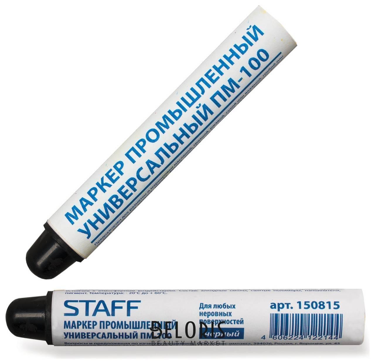 Маркер для промышленной маркировки Staff ПМ-100 твердый, черный, -20 до +40с Staff