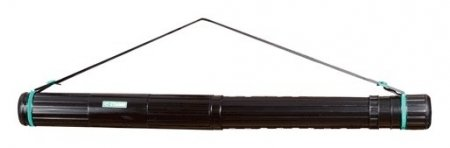 Тубус для чертежей СТАММ телескопический, диаметр 8,5 см, 63-110 см, А0, черный, на ремне   Стамм