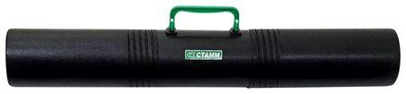 Тубус для чертежей СТАММ 3-х секционный, диаметр 10 см, длина 65 см, А1, черный, с ручкой  Стамм