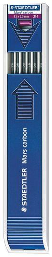 "Грифель для цангового карандаша 130 мм Staedtler ""Mars"", 2H, 2 мм, комплект 12 шт.  Staedtler"