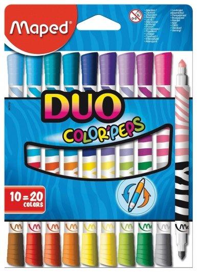 Фломастеры двухсторонние 20 цветов Duo  Maped