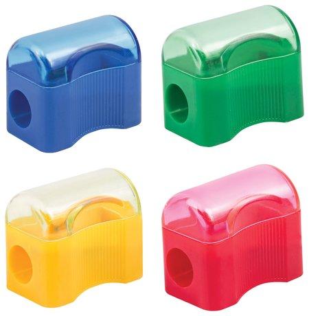 """Точилка пифагор с контейнером, пластиковая, """"Сундучок"""", цвет корпуса ассорти  Пифагор"""