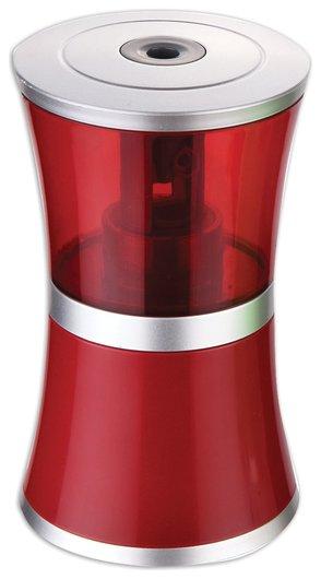 "Точилка электрическая Brauberg ""Office Style"", питание от USB/4 батареек АА, красная  Brauberg"