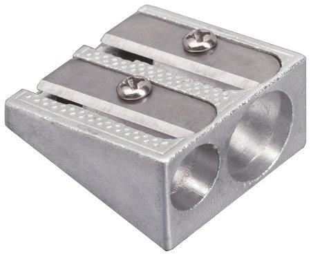 """Точилка Brauberg """"Style"""", металлическая клиновидная, 2 отверстия, в картонной коробке  Brauberg"""