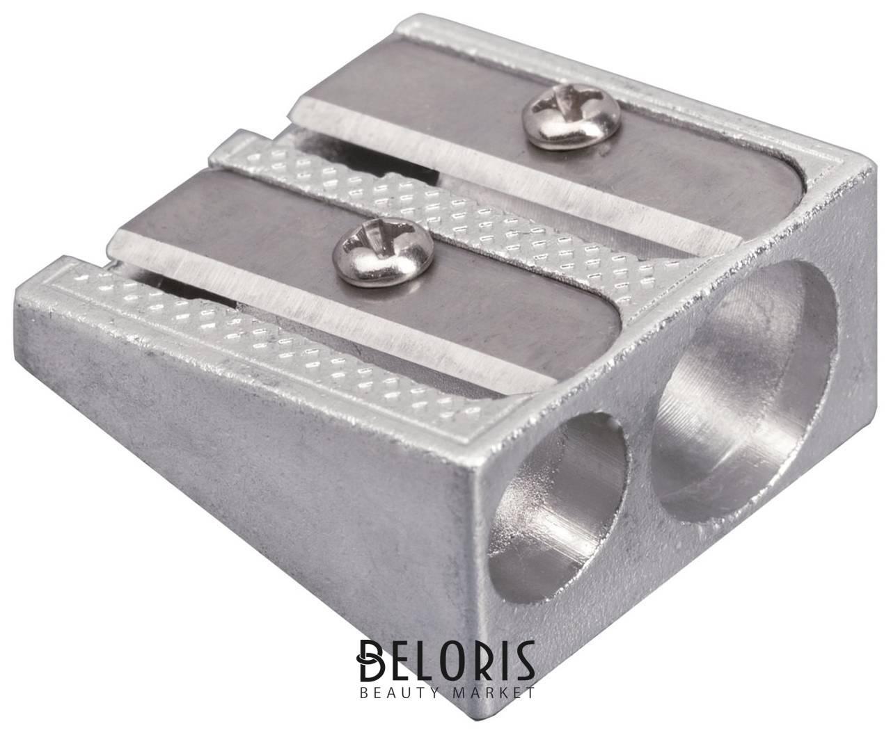 Точилка Brauberg Style, металлическая клиновидная, 2 отверстия, в картонной коробке Brauberg