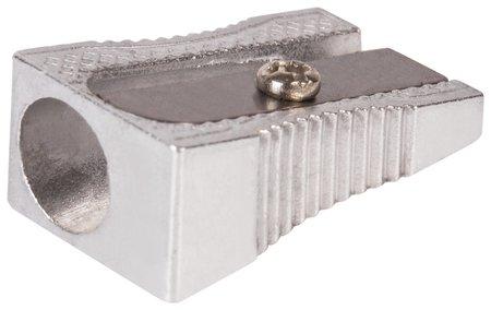 "Точилка Brauberg ""Style"", металлическая клиновидная, в картонной коробке  Brauberg"