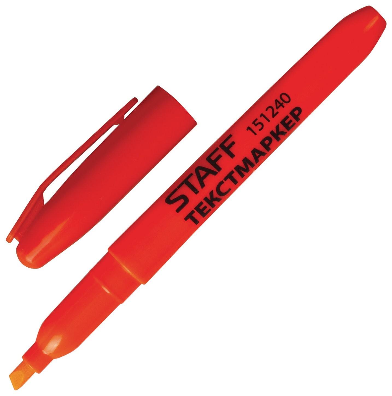 Текстовыделитель оранжевый  Staff