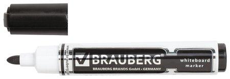 "Маркер для доски Brauberg ""Neo"", черный, с клипом, круглый наконечник, 5 мм  Brauberg"