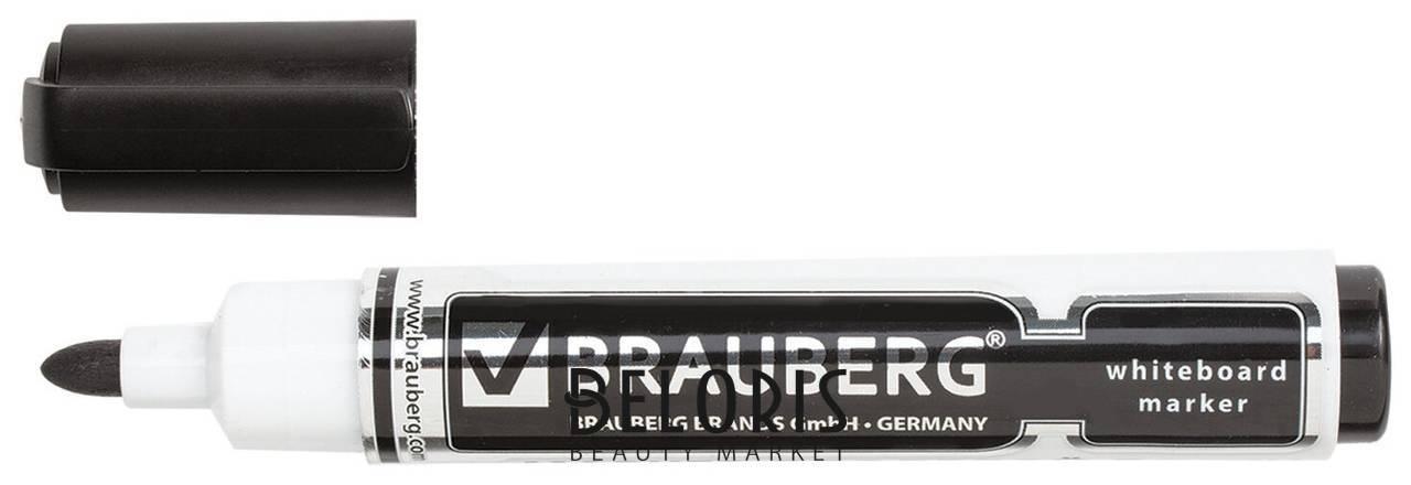 Маркер для доски Brauberg Neo, черный, с клипом, круглый наконечник, 5 мм Brauberg
