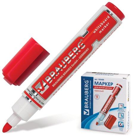"Маркер для доски Brauberg ""Neo"", красный, с клипом, круглый наконечник, 5 мм  Brauberg"