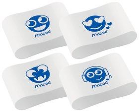 """Ластик Maped """"Essentials Soft 13"""", 33,5х21,5х9,9 мм, белый, ассорти, эргономичный, синтетический каучук  Maped"""